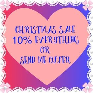 Christmas Sale 10% Off  everything in my closet 